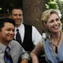 Alec Mapa as Mr. Bushnell and Jane Lynch as Ms. Maple in TRU LOVED.