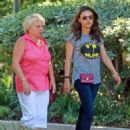 Mila Kunis took a trip to Pavilion's in West Hollywood, California for some grocery shopping with her mom on Tuesday (September 3)