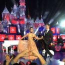 Lea Michele – Performs on stage for a ABC TV Christmas special at Disneyland Park in Anaheim - 454 x 681