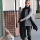 Nicollette Sheridan spotted out with her dog in Beverly Hills, California on January 7, 2016