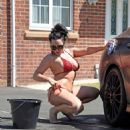 Jemma Lucy and Laura Alicia Summers in Bikini – Car Washing in Manchester - 454 x 483