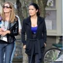 Salma Hayek on the 'Grown Ups' Set