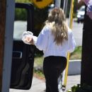 Hilary Duff – Steps out for some fresh fruit on the street in Studio City