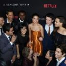 Selena Gomez and the Cast: The premiere Of Netflix's '13 Reasons Why' at Paramount Pictures Studio in Los Angeles, California on March 30, 2017 - 454 x 312