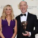 Reese Witherspoon and J.K. Simmons - The EE British Academy Film Awards - Winners Room (2015)