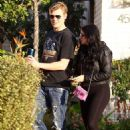 Ariel Winter in Black Tights – Out in Studio City
