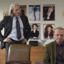 Clayton (Jeff Bridges) and Sidney (Simon Pegg) in Clayton's office at Sharps magazine. Photo Credit: Kerry Brown