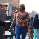 Tiffany Haddish – Filming 'The Kitchen' in NYC - 454 x 724