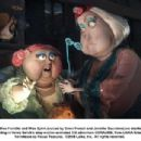 Miss Forcible and Miss Spink (voiced by Dawn French and Jennifer Saunders) are startled by a tea leaf reading in Henry Selick's stop-motion animated 3-D adventure CORALINE, from LAIKA Entertainment for release by Focus Features. © 2008 Laika, Inc. All