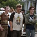 Morris (Kevin Covais), Carter (Andrew Caldwell) and Kevin (Drake Bell) in COLLEGE.