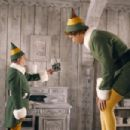 """Bob Newhart (left) as """"Papa Elf"""" and Will Ferrell (right) as """"Buddy"""" in New Line Cinema's upcoming film Elf."""