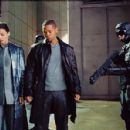 Will Smith as Detective Del Spooner and Bridget Moynahan as Susan Calvin in I, Robot - 2004