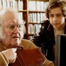 M. Emmet Walsh as Mickey Hopkins and Michael Angarano as Cameron Kincaid in drama comedy 'Man in the Chair.'