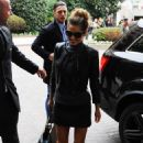 Cheryl Cole At Principe Di Savoia Hotel In Milan