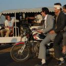 Wes Anderson, Adrien Brody, Owen Wilson and Jason Schwartzman in the scene of The Darjeeling Limited.