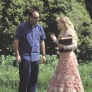 Director Oliver Parker and Reese Witherspoon on the set of Miramax's The Importance of Being Earnest - 2002
