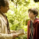 David Strathairn as Arthur Spiderwick and Freddie Highmore as Simon in Paramount Pictures' The Spiderwick Chronicles.