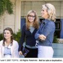 L-R: Keri Russell, Writer and Director Adrienne Shelly and Cheryl Hines on the set of WAITRESS. Photo Credit: Alan Markfield - 454 x 332