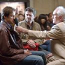 JIM CARREY as Carl, JOHN MICHAEL HIGGINS as Nick and TERENCE STAMP as Terrence in Warner Bros. Pictures' and Village Roadshow's comedy 'Yes Man,' distributed by Warner Bros. Pictures. Photo by Melissa Moseley.