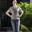 Anne Hathaway At A Relatives Home In Toluca Lake, March 16 2010