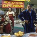 Grandma Jones (Dolores Sheen), Mr. Jones (John Witherspoon), Uncle Elroy (Don 'DC' Curry) and Mrs. Jones (Anna Marie Horsford) in New Line's Friday After Next - 2002