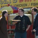 Jeff Garlin as James (center) and David Pasquesi as Luca (right) in the scene of I Want Someone to Eat Cheese With