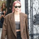 Hailey Baldwin at the Nine Zero One hair salon in West Hollywood