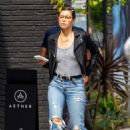 Jessica Biel – In Jeans out in Los Angeles