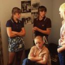 From left to right. Chanel Cresswell as Kelly, Vicky McClure as Lol, Danielle Watson as Trev and Thomas Turgoose as Shaun in THIS IS ENGLAND written and directed by Shane Meadows. Photo credit: Dean Rogers. An IFC First Take release. - 454 x 303
