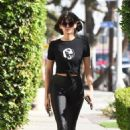 Nina Dobrevin Black Tights –Out in West Hollywood
