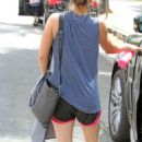 Kaley Cuoco Leaving Workout in Studio City - 454 x 729