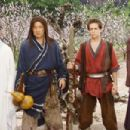Silent Monk (Jet Li, left), Lu Yan (Jackie Chan), Jason Tripitikas (Michael A. Angarano) and Golden Sparrow (Crystal Liu) in THE FORBIDDEN KINGDOM. Photo credit: Chan Kam Chuen.