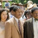 Jurnee Smollett (Samantha), Nate Parker (Henry Lowe), and Denzel Whitaker (James Farmer Jr) star in Denzel Washington's The Great Debaters. Photo by: David Lee/TWC 2007. - 454 x 304