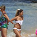 Vanessa and Stella Hudgens Wearing A Bikini At A Beach In Hawaii