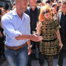 Lady Gaga: at the Hilton Hotel