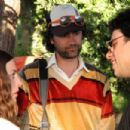 Director Taiki Waititi (center) with Loren Horsley as LILY (left) and Jemaine Clement as JARROD (right) on the set of EAGLE VS. SHARK. Photo credit: Matt Grace/Courtesy of Miramax Films.