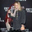 Sasha Pieterse – Knott's Scary Farm Celebrity Night Photocall in Buena Park