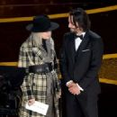 Diane Keaton and Keanu Reeves At The 92nd Annual Academy Awards - Show