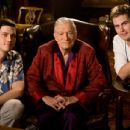 Writer/Director Trevor Moore and Writer/Director Zach Cregger with Hugh Hefner. Photo Credit: Mark Fellman