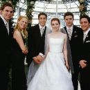 The bridal party: Stifler(Seann William Scott), Cadence (January Jones), Jim (Jason Biggs), Michelle (Alyson Hannigan), Finch (Eddie Kaye Thomas) and Kevin (Thomas Ian Nicholas)