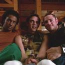3 on a couch. L to R: Darryl Stephens as Andrew, Jonathon Trent as Joey and Derek Magyar as X in Q. Allan Brocka drama movie 'Boy Culture' - 428 x 247