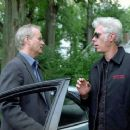 Bill Murray (left) and Jim Jarmusch (right) on the set of BROKEN FLOWERS, a Focus Features release. Photo by David Lee.