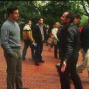 Freddie Prinze Jr. and director Michael Corrente behind the scene of Brooklyn Rules.