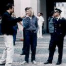 Director Tom Tykwer with Cate Blanchett and Giovanni Ribisi on the set of Miramax's Heaven - 2002 - 454 x 300