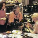 Stanley's mother (Siobhan Fallon Hogan, left), father (Henry Winkler, center) and grandfather (Nathan Davis, right) work on the elusive remedy for foot odor while Stanley is off at Camp Green Lake. - 454 x 343