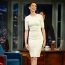 Anne Hathaway visits Late Night With Jimmy Fallon at Rockefeller Center on December 11, 2012 in New York City