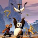 Unexpectedly chosen to fulfill an anchient prophecy and train in the art of kung fu, giant panda Po (center, JACK BLACK) begins his study alongside the legendary Furious-Five (left to right) bold and strong Tigress (ANGELINA JOLIE); charming and vain Vipe