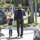 Ben Affleck spotted at his daughter  soccer game on Saturday April 1st, 2017 in Santa Monica, CA - 454 x 340