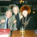 Michael Dillion, Keith Waterhouse and Sandy Fawkes in Gerry's Club in Soho, London