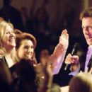 """KRISTEN JOHNSON as Rhonda and HUGH GRANT as Alex Fletcher in Warner Bros. Pictures' and Village Roadshow Pictures' romantic comedy """"Music and Lyrics,"""" distributed by Warner Bros. Pictures. The film also stars Drew Barrymore. Photo"""